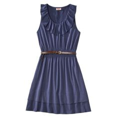 Mossimo Supply Co. Juniors Ruffle Skater Dress w/ Belt -  Assorted Colors.Opens in a new window