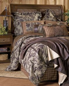 Carstens Moss Pinecone Country Western Cabin Bedding