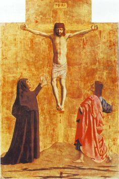 'Crucifixion', Oil On Panel by Piero Della Francesca (1415-1492, Italy)