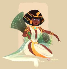 Cleopatra drew her for Sketch_Dailies!