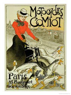 Comiot Motorcycles, 1899    (Théophile Alexandre Steinlen)