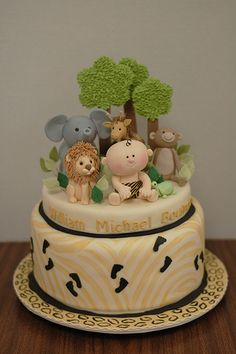 Baby Jungle Baby Shower Cake