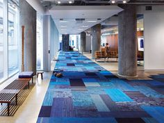Interface- Collections available in Skinny Planks format are Urban Retreat 501, Northern Light and Net Effect Two.
