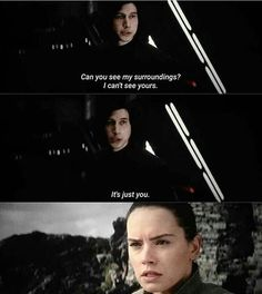 'I can just see you' Star Wars: The Last Jedi Reylo, Kylo Rey, Kylo Ren And Rey, Adam Driver, Star Wars Brasil, Star Wars Ships, Star Trek, Star War 3, The Force Is Strong