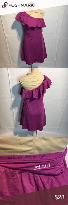 One shoulder dress 👗 Beautiful one shoulder dress with built in bra. Victoria's Secret Dresses One Shoulder