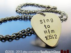 Catholic Jewelry. Gift for Men. Mens Hand Stamped by SeaBeachGlass--Etsy (MSRP $33)