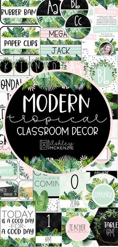 Modern Tropical Classroom Decor - The perfect theme for your classroom this year! This modern tropical classroom decor includes every - Modern Classroom, Classroom Layout, Classroom Decor Themes, Classroom Setting, Classroom Design, Kindergarten Classroom, Future Classroom, Classroom Organization, Classroom Ideas