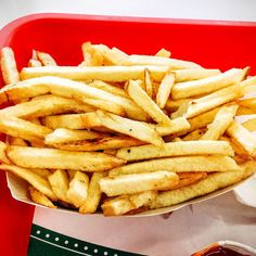 We love the fresh cut fries at In N Out Burger. They are sooooo good! - Tag your friends that love fries! - #food #imenehunes @innout #innout #innoutburger #innoutfries