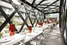 The Scarpetta Dining Pavilion Is Chic And Elegant #cafes trendhunter.com