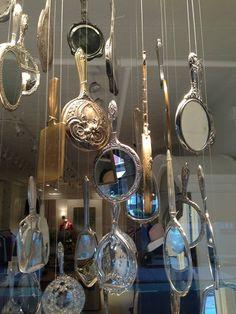 Antique Mirror's as retail window display.