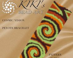 This is an own designed pattern in PDF format, downloadable directly from ETSY.  This pattern is for my vivid pansy flowers peyote bracelet, which is created in even 2 drop peyote. The pdf file includes  1. a large picture of the pattern 2. a large, detailed graph of the pattern, 3. a bead legend with the colour numbers and count of the delica beads for the suggested length 4. a word chart of the pattern  Please note that my patterns do not include instructions for how to do the peyote…