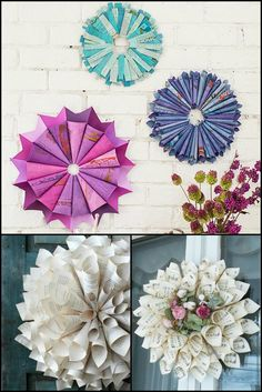 Decorate Kids' Rooms or The Patio by Making This Paper Wreath Project With The Kids