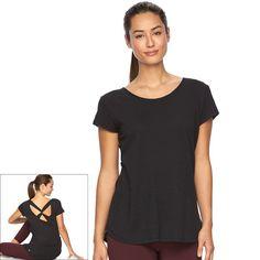 Women's Gaiam Infinity Slubbed Yoga Tee, Size: