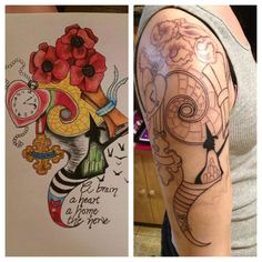 wizard of oz half sleeve. | Tattoos | Pinterest