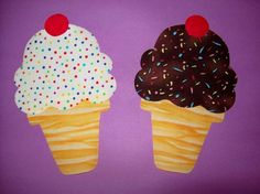 Fabric Applique TEMPLATE ONLY Cake Cone Ice Cream by etsykim
