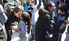 """{     THE BOY WHO REFUSED A KISS FROM ANGELINA JOLIE: HOLLYWOOD STAR MEETS MIGRANTS LIVING AT A CAMP IN LESBOS…BUT ONE CHILD LOOKS LESS THAN IMPRESSED    } #DailyMailUK .... """"Hollywood actress Angelina Jolie visited migrants who have landed in Europe on the Greek island of Lesbos.. Miss Jolie's visit comes as European Union leaders discussed the migrant crisis at a summit in Brussels today.""""…"""