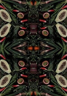 Scanned Images of Seasonal Produce Transformed Into Works of Art | Mental Floss