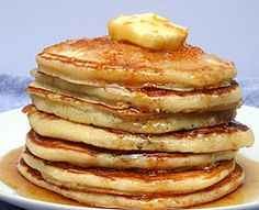 Classic Buttermilk Pancakes with Orange Infused Maple Syrup