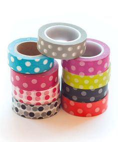 Look at this Polka Dot Washi Tape Set on #zulily today!