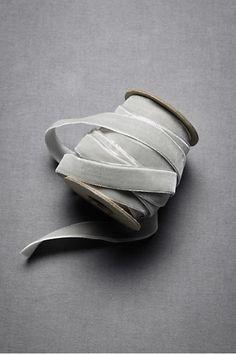 Grey Velvet Ribbon.