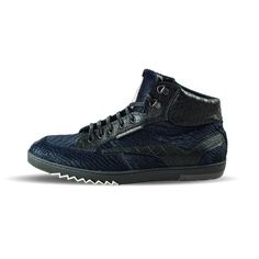 Floris van Bommel BluePoni 10856 – Lost Soles All Black Sneakers, Pony, Shoes, Collection, Fashion, Blue, Leather, Pony Horse, All Black Running Shoes