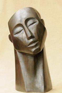 'Remembering Head' Bronze resin. Sally Grant