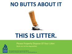 No Butts About It, Cigarettes Are Litter