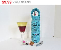 On Sale Wine Bottle Holder Wine Bottle by LoveandPetFurCrochet