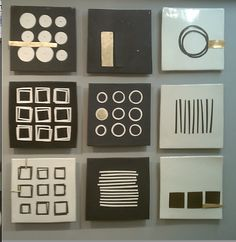 Nine Piece Grouping: Lori Katz: Ceramic Wall Art - Artful Home