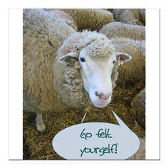 Go Felt Yourself | Knitting Memes and Jokes at www.terrymatz.biz/intheloop/knitting-humor