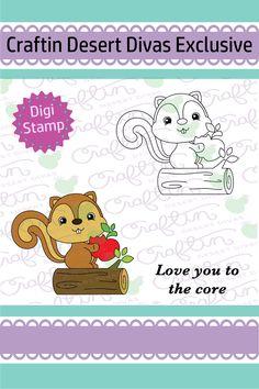 Apple Of My Eye Digital Stamp - Craftin Desert Divas