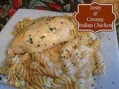 Simple Fare, Fairly Simple: Zesty and Creamy Italian Chicken