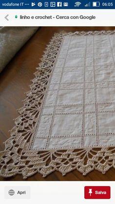 Crochet Edging Tutorial, Crochet Border Patterns, Lace Knitting Patterns, Crochet Lace Edging, Crochet Squares, Crochet Designs, Crochet Doilies, Crochet Curtains, Crochet Tablecloth