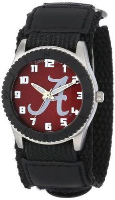 "Game Time Unisex COL-ROB-ALA2 ""Rookie Black"" Watch - Alabama - ""A"" Logo"