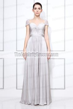 Vanessa's  Floor-length Chiffon Evening Dress seen in Gossip Girl Season 3. ( US size 2,4,6,8 ,10 and 12 in Light Silver (as in picture) are in stock ready to ship. Other sizes and colors will be made from scratch which takes about 2 weeks. )