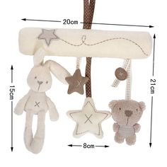 Free Shipping New 2015 Mamas& Papas Cot Hanging Toy Baby Rattle Toy Soft Plush Rabbit Musical Mobile Products Babies Infant #Affiliate