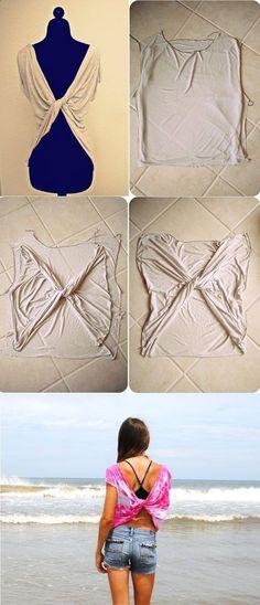 Butterfly Twist-Back Tee T-shirt – DIY
