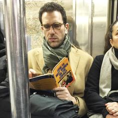step 1: hide that book Mr. Subway guy