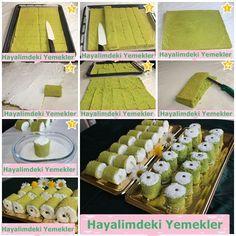 padişah lokumu Pasta Recipes, Cake Recipes, Dessert Recipes, Mini Desserts, Frozen Desserts, Pasta Cake, Turkish Sweets, Vol Au Vent, Candy Cakes