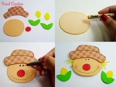 Como Fazer lembracinha festa junina eva mini-caixote espantalho porta Guloseimas escola DECORACAO junina enfeite mesa (2)