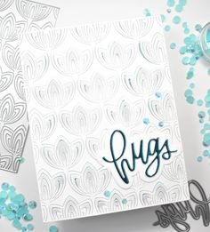 Simon Says Stamp Fine Petals Hugs – REDSAS Sympathy Messages, Sympathy Quotes, Sympathy Cards, Cards For Friends, Friend Cards, Heartfelt Condolences, Die Cut Cards, Simon Says Stamp, Diy Cards