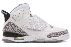 NIKE AIR JORDAN Son of Mars Kids Youth GS 512242 109 White   Prism Blue-Wolf  Grey-Black The Jordan Son Of Mars  A remix of iconic proportions Jordan Son  Of ... 910fa2b85