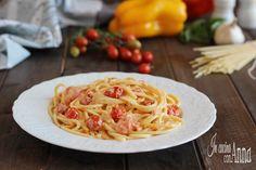 Pasta+alla+crema+di+peperoni+e+pomodorini