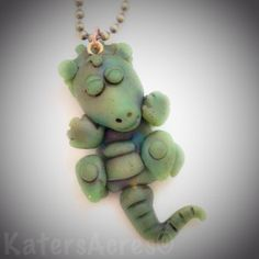 Faux Jade Dragon Pendant by KatersAcres | Faux Jade Color Recipe Available if you CLICK to go to post