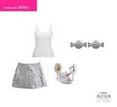 Um brinco discreto e uma blusa básica podem fazer a diferença em um look cheio de brilho.