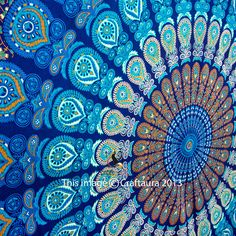 Hippie Mandala Tapestry Wall Hanging Indian Wall Tapestry Bohemian Throw Decor