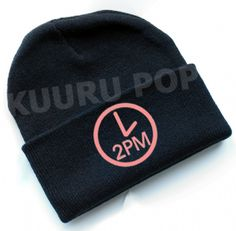 2PM Beanie  A must-have for every Hottest, this beanie is perfect for keeping comfy and warm in style. It features a pink clock with '2PM' inside.  - One size only. - Beanies should fit everyone age 8 and up (including adults), but are not recommended for larger heads. - High-quality print.
