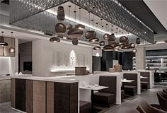 "The concept ""comfort"" drives the overall layout of the restaurant. In order to meet the demands of small gatherings, the lighting design creates a private cozy spatial feeling by using accent lighting strategy."