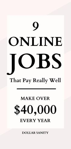 Looking for high paying online jobs? Work from home and make up to $40 an hour with these legitimate online jobs. #financialfreedom Legitimate Online Jobs, Legit Online Jobs, Job Work, Part Time Jobs, How To Make Money