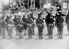 dutch indies police in sumatra region, 1911.